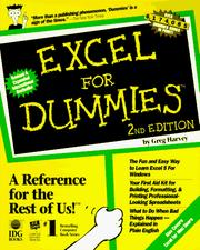 Cover of: Excel for dummies