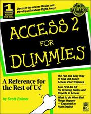 Cover of: Access 2 for dummies