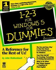 Cover of: 1-2-3 for Windows 5 for dummies