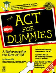 Cover of: The ACT for dummies | Suzee Vlk