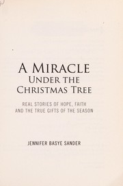 Cover of: A miracle under the Christmas tree