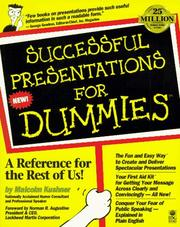 Cover of: Successful presentations for dummies