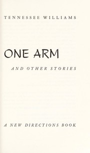Cover of: One arm, and other stories