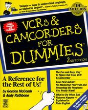 Cover of: VCRs & camcorders for dummies