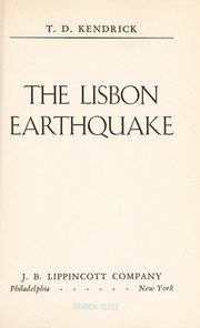 Cover of: The Lisbon earthquake