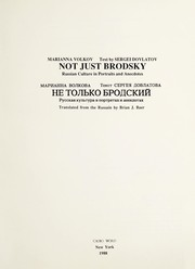 Cover of: Not just Brodsky | Marianna Volkova