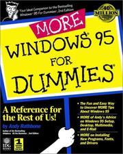 Cover of: More Windows 95 for dummies