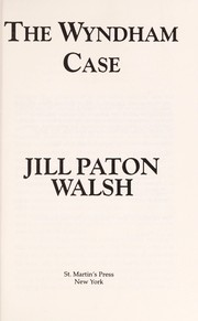 Cover of: The Wyndham case