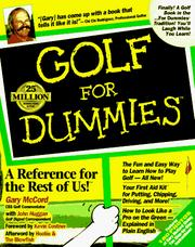 Cover of: Golf for dummies
