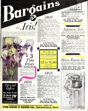 Cover of: Bargains [bulletin and price list] | Good & Reese Co