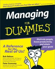 Cover of: Managing for dummies