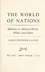 Cover of: The world of nations