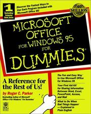 Cover of: Microsoft Office for Windows 95 for dummies | Roger C. Parker