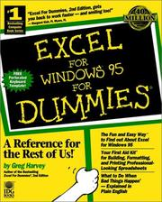 Cover of: Excel for Windows 95 for dummies