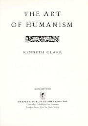 Cover of: The art of humanism