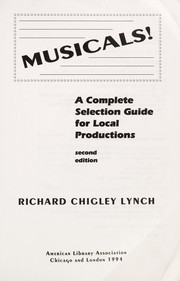 Cover of: Musicals! | Richard Chigley Lynch