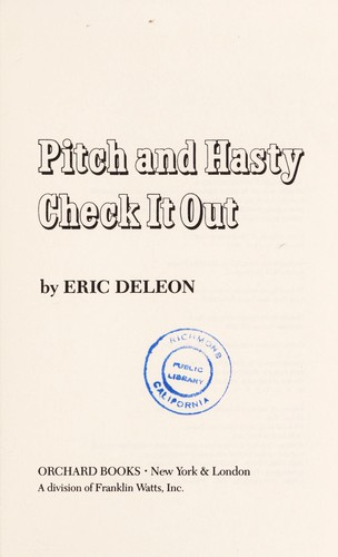 Pitch and Hasty check it out by Eric Deleon