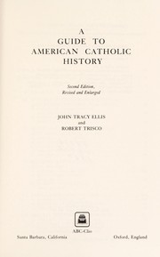 Cover of: A guide to American Catholic history
