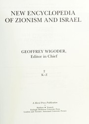 Cover of: New encyclopedia of Zionism and Israel | Geoffrey Wigoder, editor in chief.