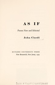 Cover of: As If | John, Ciardi
