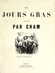 Cover of: Les jours gras