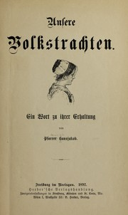 Cover of: Unsere volkstrachten