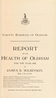 Cover of: [Report 1933] | Oldham (England). County Borough Council. nb2004302054