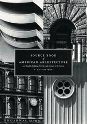 Cover of: Source book of American architecture