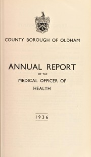 Cover of: [Report 1936] | Oldham (England). County Borough Council. nb2004302054