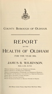 Cover of: [Report 1934] | Oldham (England). County Borough Council. nb2004302054
