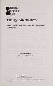 Cover of: Energy alternatives | David Haugen, Susan Musser, and Vickey Kalambakal, book editors.