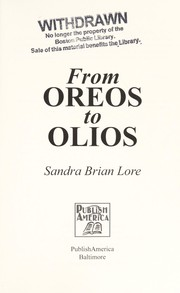 Cover of: From oreos to olios | Sandra Brian Lore
