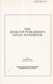 Cover of: The desktop publisher's legal handbook