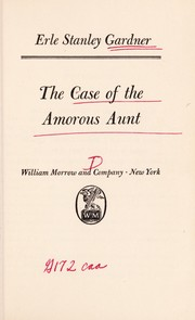Cover of: The case of the amorous aunt