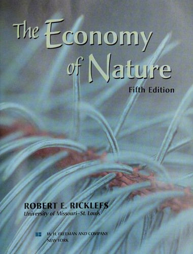 The economy of nature by Robert E. Ricklefs