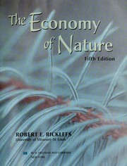 Cover of: The economy of nature | Robert E. Ricklefs