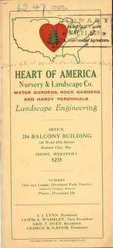 Cover of: Water gardens, rock plants and hardy perennials, landscape engineering | Heart of America Nursery & Landscape Co