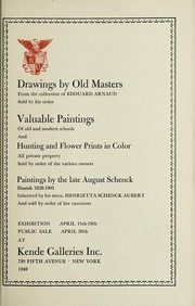 Cover of: Drawings by old masters, valuable paintings of primitive, European, English and American schools | Kende Galleries at Gimbel Brothers