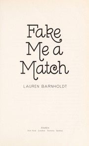 Cover of: Fake me a match