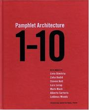 Cover of: One Through Ten (Pamphlet Architecture)