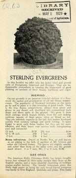 Cover of: Sterling evergreens | Hardy Evergreen Gardens