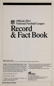 Cover of: Official 2014 National Football League record & fact book | National Football League
