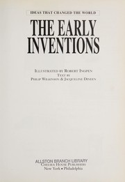 Cover of: The early inventions