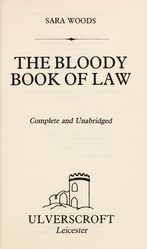 The bloody book of law by Sara Woods