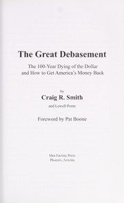 Cover of: The Great debasement | Craig R. Smith