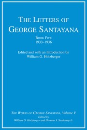Cover of: The letters of George Santayana
