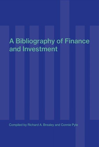 A bibliography of finance by Richard A. Brealey