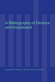Cover of: A bibliography of finance | Richard A. Brealey