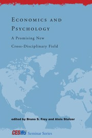 Cover of: Economics and psychology