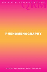Cover of: Phenomenography | John A. Bowden